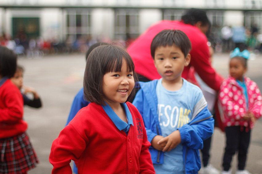 Young children in the playground
