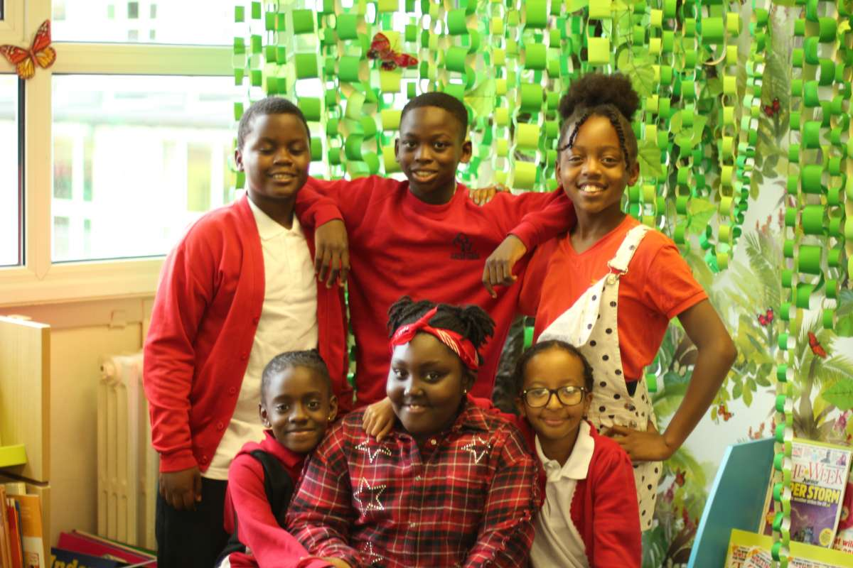 Group of children in the safe environment of Grinling Gibbons